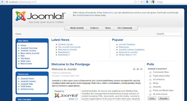 Halaman Depan Website