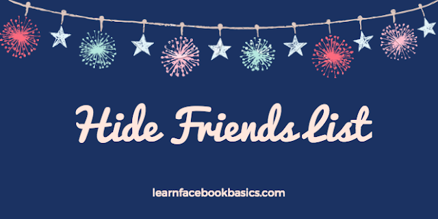 How to hide friends list on Facebook   Block friends list from Friends - FB search friends list