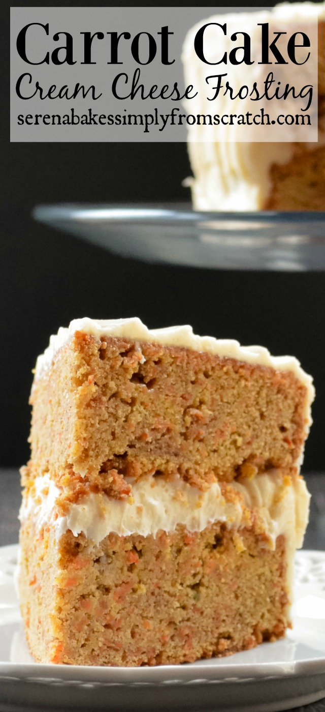 Carrot Cake with Cream Cheese Frosting! Super moist and easy to follow step by step instructions!