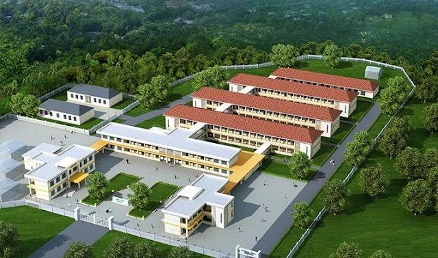 Mwonekano mpya wa Hospitali ya Abdalla Mzee, Mkoani ambayo inakaribia kumalizika ukarabati wake