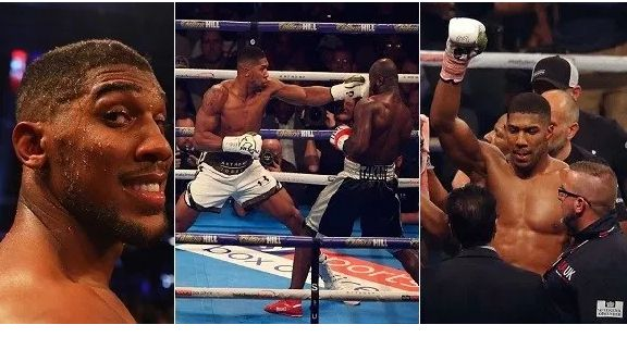 Anthony Joshua exhausted Carlos Takam by TKO