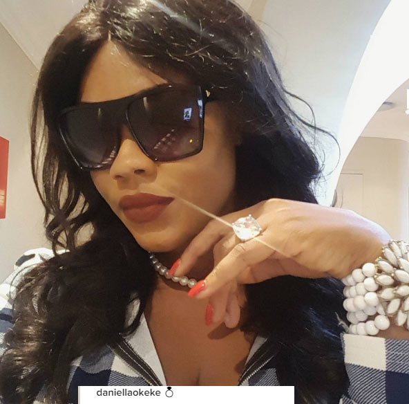 "Attention seeker Daniella Okeke flaunts ring, then blasts ""people"" for jumping into conclusions"