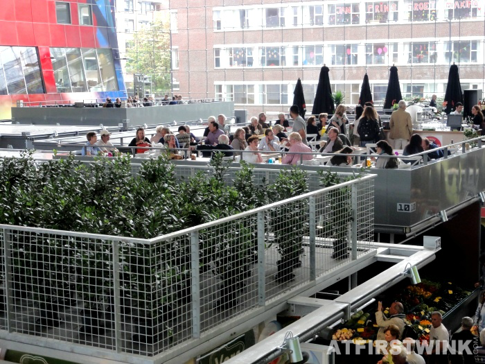 terrace in the air | Markthal in Rotterdam