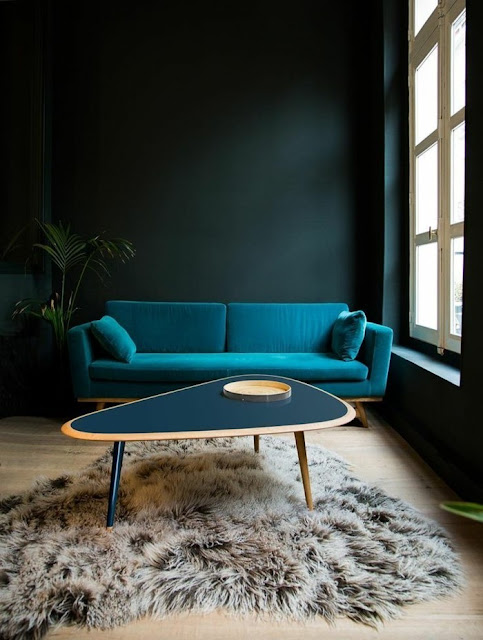 table-bleue-moderne