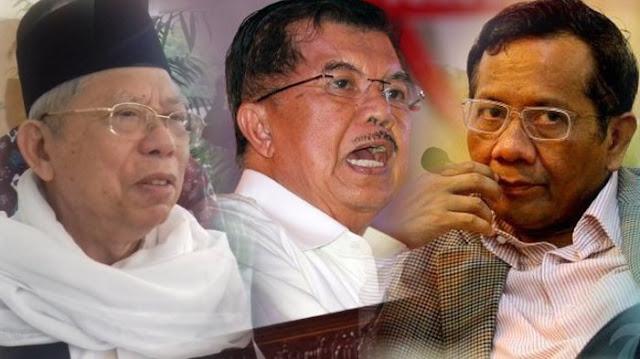 JK dan Mahfud MD Masuk Jajaran Ketua Timses Jokowi-Ma'ruf?