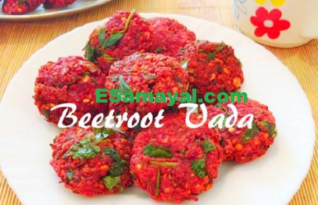 பீட்ரூட் வடை செய்முறை / Beetroot Vadai Recipe |