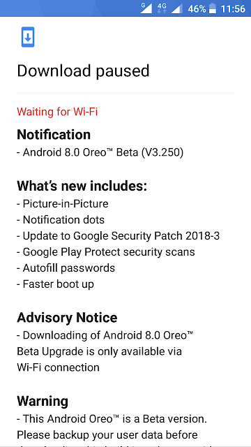 Nokia 3 receiving Android Oreo Beta V3.250 update