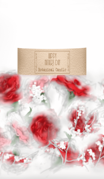 Botanical Candle -Happy Mother's Day-