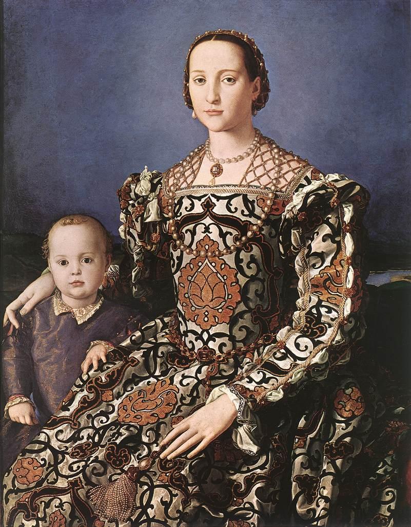 8daa4a8607b79 Alcune delle sue opere più note evidenziano l altera ricchezza dei costumi di  corte. Il ritratto di Lucrezia Panciatichi del 1540 circa mostra come la  moda ...