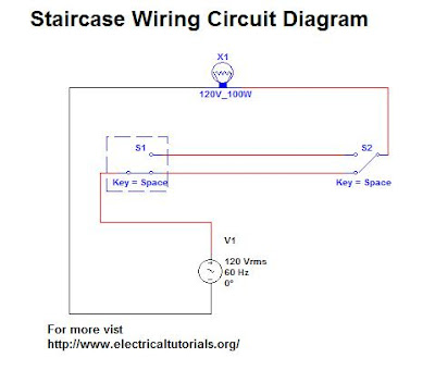 staircase wiring circuit complete guide in urdu   hindi Single Switch Wiring Diagram 3-Way Switch Wiring Diagram Variations