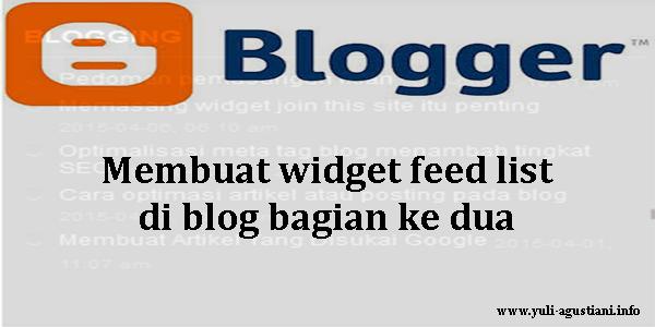 membuat widget feed list di blog lanjutan