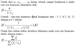 Rata - Rata Logaritma dan Harmonis