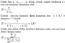 Statistika: Rata - Rata Logaritma dan Harmonis