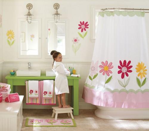 design para banheiros de meninas