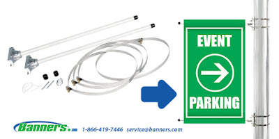 Standard Pole Banner Bracket System | Banners.com