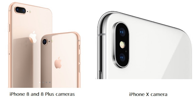 iPhone 8, 8 Plus and iPhone X cameras