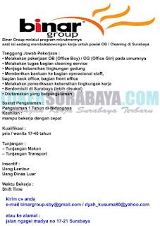 Lowongan Kerja di Binar Group Surabaya Terbaru Mei 2019