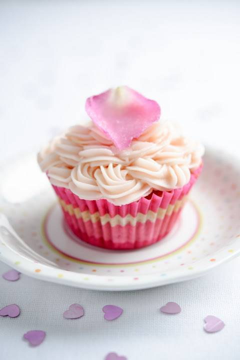 Beetroot And Vanilla Cup Cakes With Rose Butter Icing