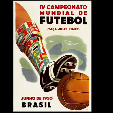 Logo Piala Dunia FIFA Tahun 1950 Brasil