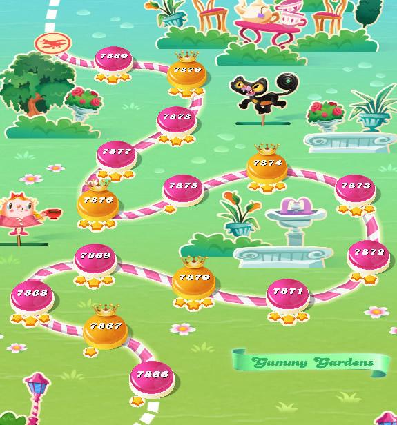 Candy Crush Saga level 7866-7880