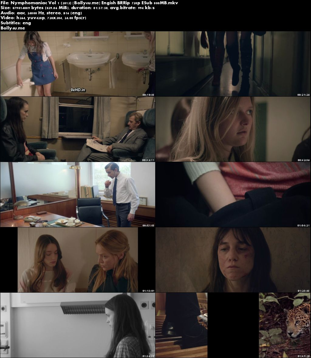 Nymphomaniac Vol 1 2013 BRRip 800MB Engish 720p ESub Download