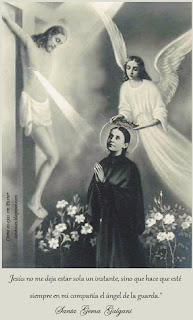 Resultado de imagen para SANTA GEMA GALGANI y su angel de la guarda