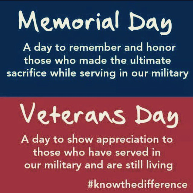 Memorial Day vs Veterans Day