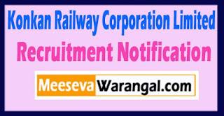 KRCL Konkan Railway Corporation Limited Recruitment Notification 2017 Last Date 12-05-2017