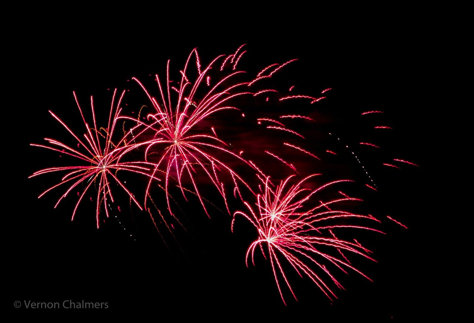 Fireworks Cape Town over Milnerton Lagoon / Woodbridge Island / Table Bay