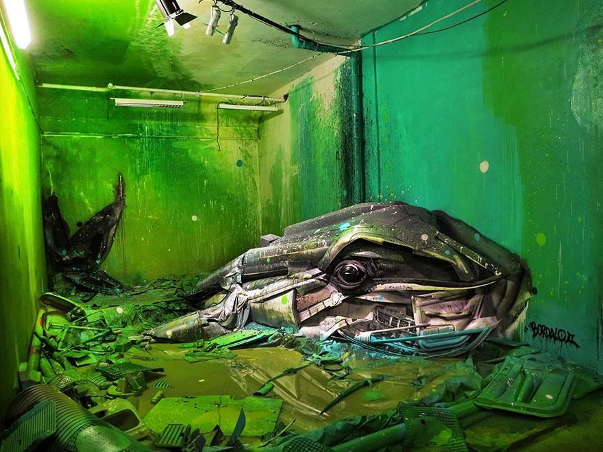 Ikan Paus - Seni Lukisan Binatang Menakjubkan Dan Kreatif Dari Bahan Sampah