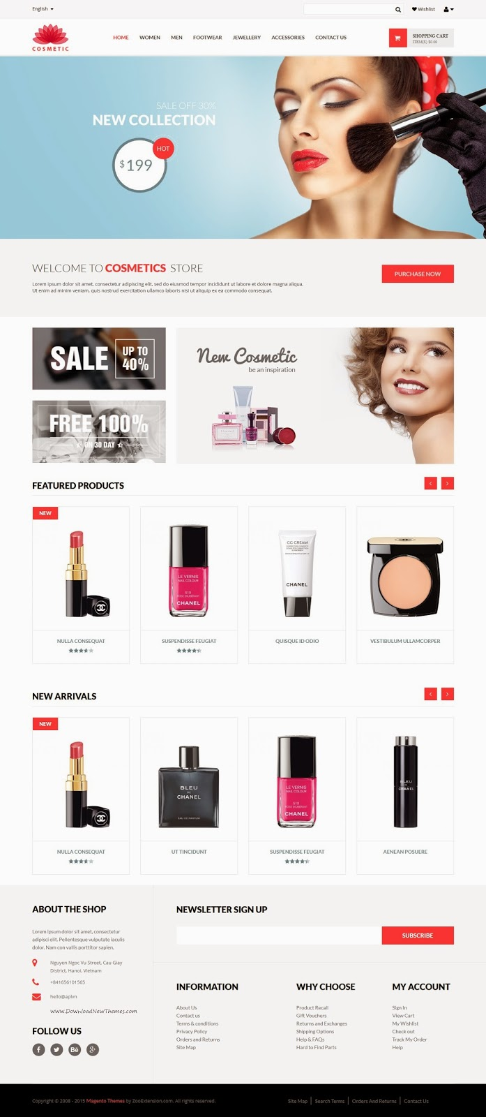 Spa and Beauty Parlar Responsive Magento Theme