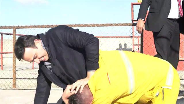 ضربات دموية من صابر الرباعي على رأس رامز جلال