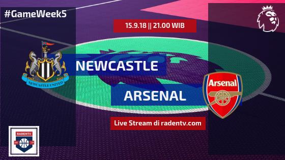 Streaming Newcastle vs Arsenal