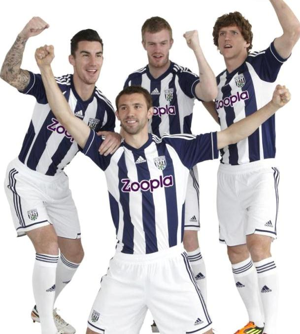 f2a8fdaa8 New West Brom Kit 12-13- Adidas West Bromwich Albion Home Shirt 2012-2013