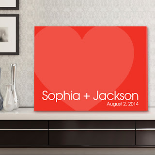 Love Forever Signature Couple Canvas