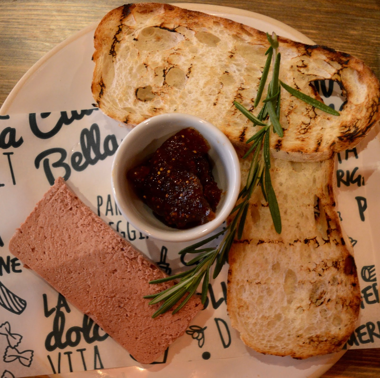 Bella Italia at intu Eldon Square Newcastle | Children's Menu Review - Christmas menu pollo pate and fig chutney