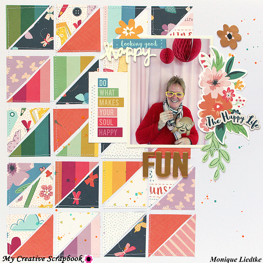 ... words from Amy Tangerine and there s even a spray stencil from Heidi  Swapp included. Such an awesome kit! Here s one of the layouts I created  with it  9b3e09825