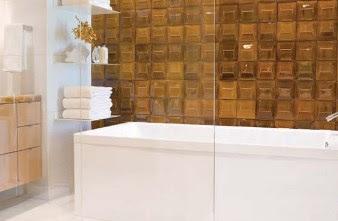 Bernstein Verglaste Badezimmer-Fliesen erstellen Astonishing Badeinrichtungen