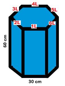 Como calcular a área do prisma