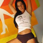 Andrea Rincon – Selena Spice – Sexy Top Blanco y Tanga Negra Foto 25