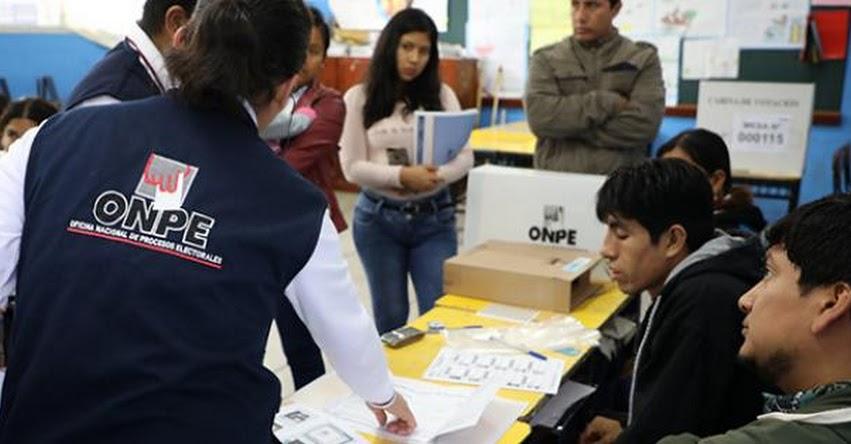 ONPE procesó el 100% de actas de las elecciones municipales complementarias - www.onpe.gob.pe
