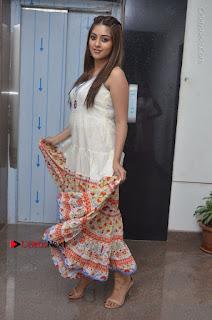Telugu Actress Anu Emmanuel New Stills in Beautiful White Long Dress  0075.JPG