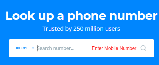 truecaller search mobile number