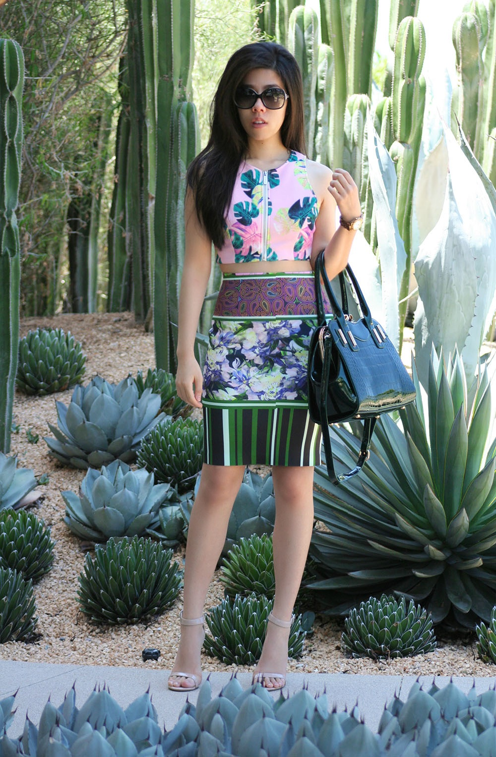Adrienne Nguyen_Invictus_Pink and Green Outfit_BodyCon Outfits for Work_What to Wear to Work In the Summer