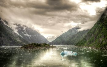 Wallpaper: Tracy Arm fjord from Alaska