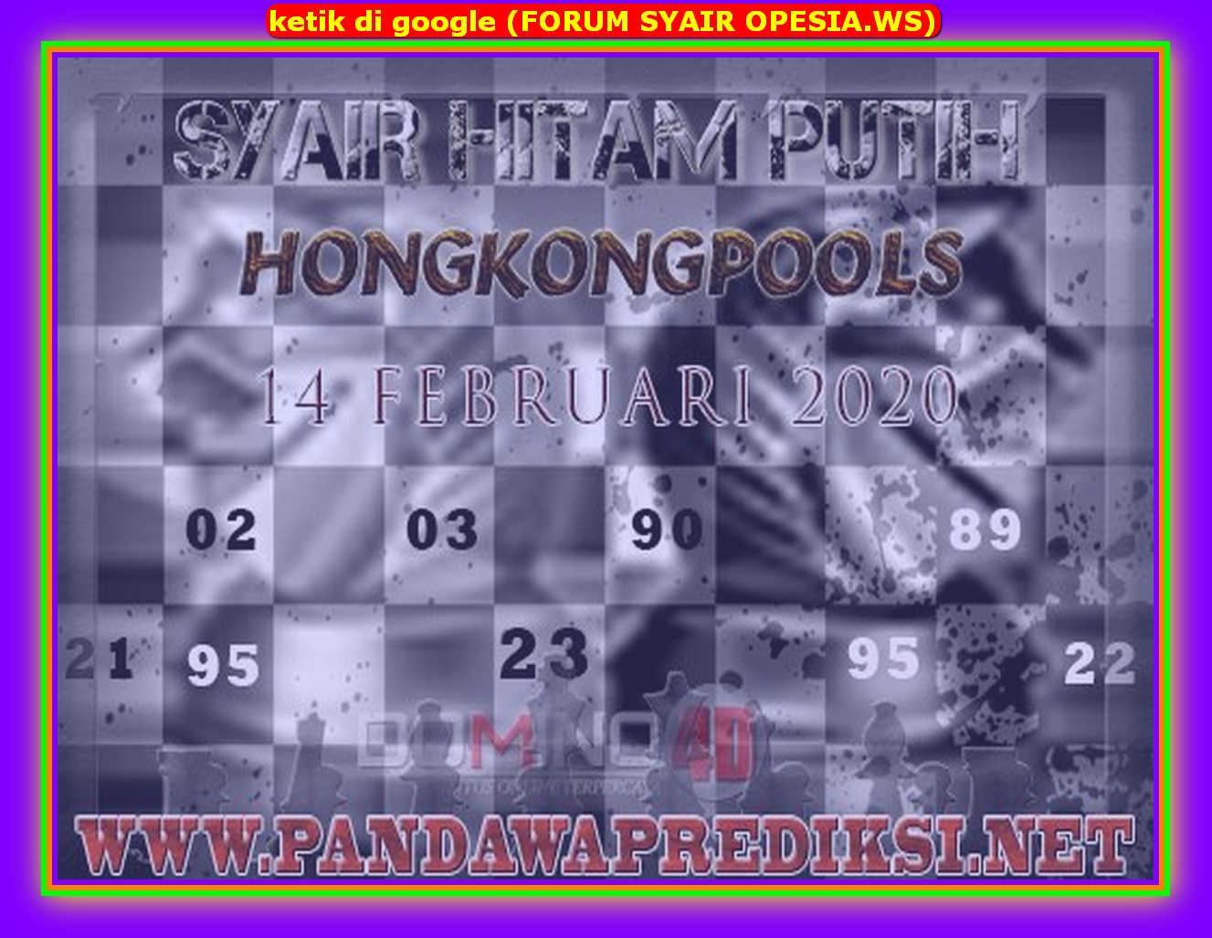 Kode syair Hongkong Jumat 14 Februari 2020 102