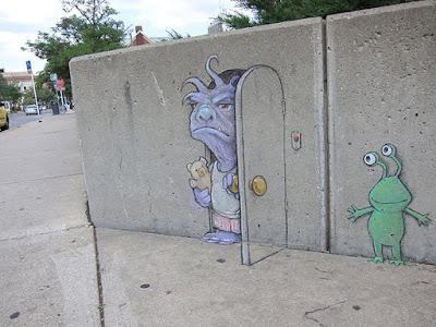 Kreasi Seni Lukis Kapur Di Jalanan by David Zinn @davidzinn