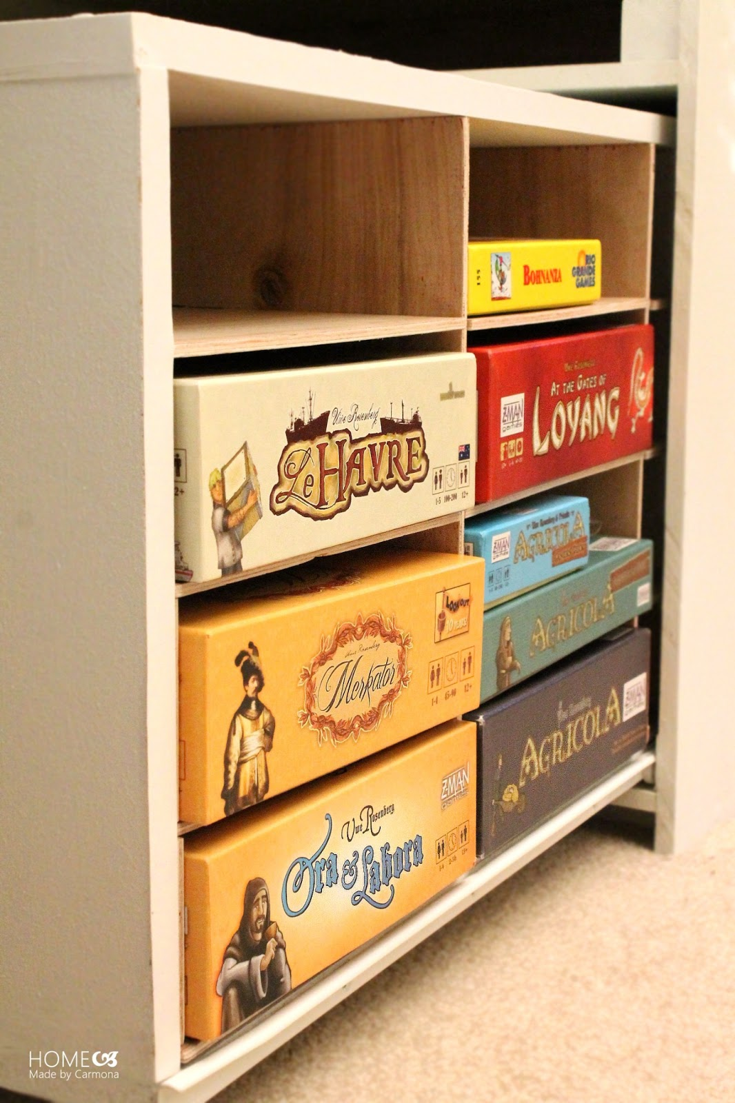DIY Board Game Storage Unit | Home Made by Carmona
