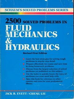 Download 2500 Fluid Mechanics & Hydraulics Solved Problem Book Pdf