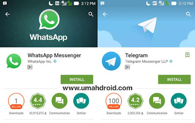 WhatsApp vs Telegram Perbandingan User